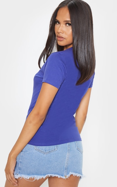 Midnight Blue Fitted Short Sleeve T Shirt
