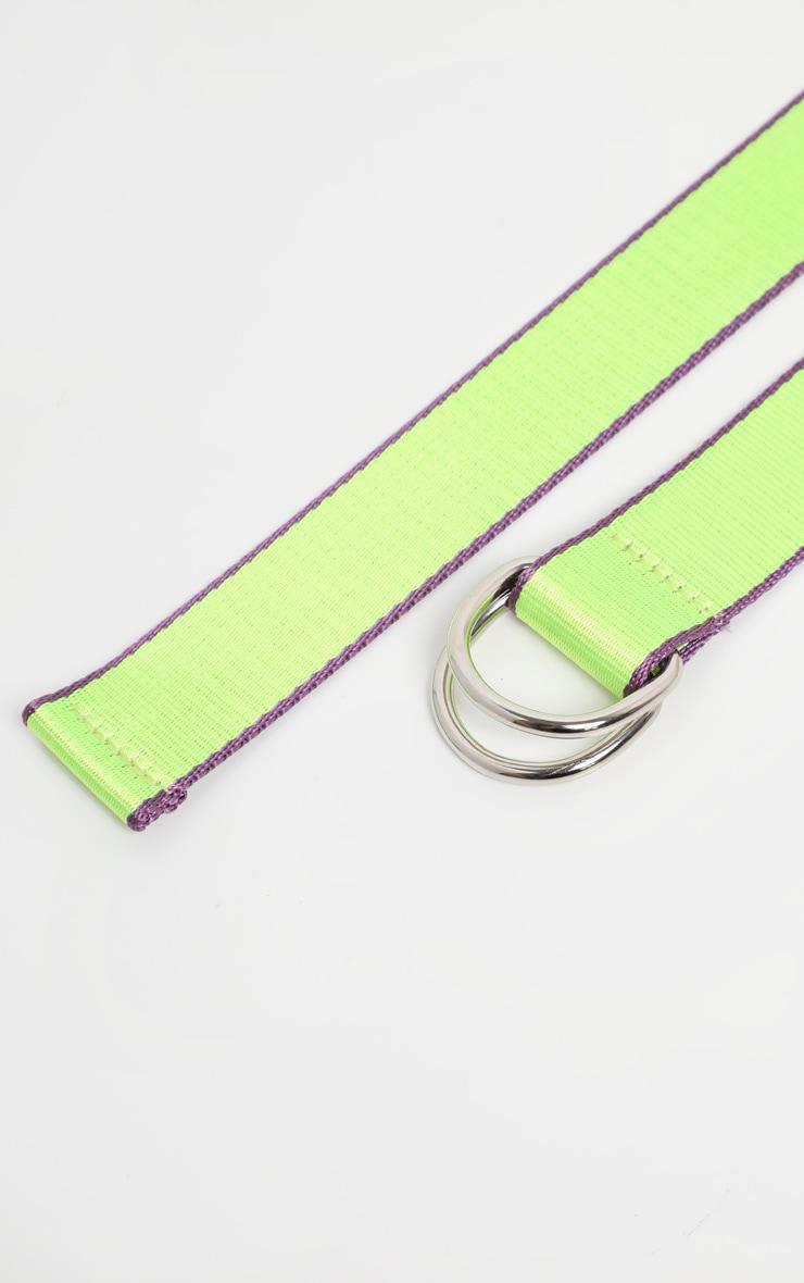 Neon Lime Webbing Belt 3