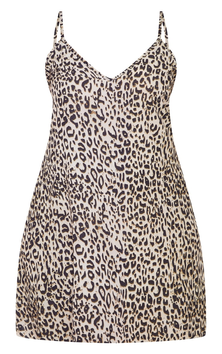 Plus Brown  Leopard Swing Dress 3