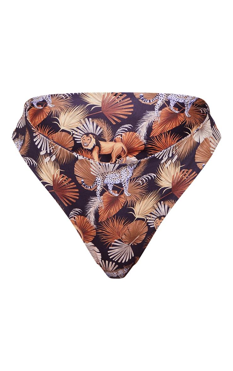 Mixed Animal Print Bikini Bottoms 5