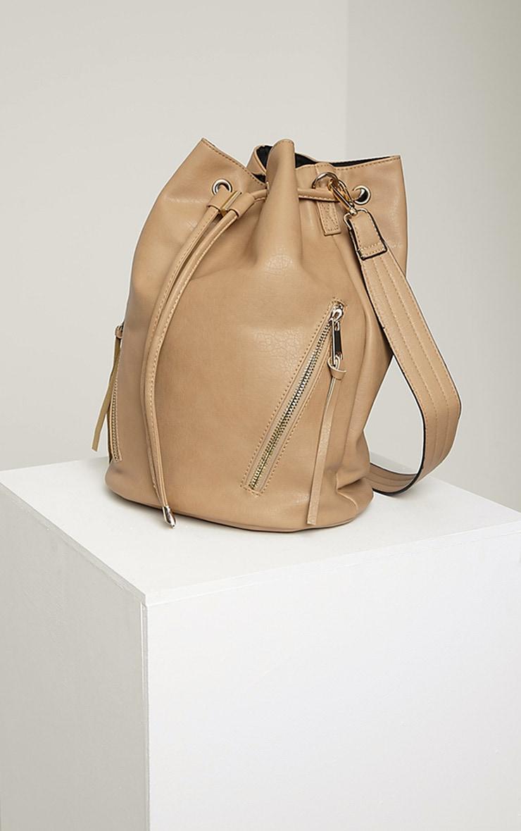 Annalisa Taupe Large Bucket Bag 5