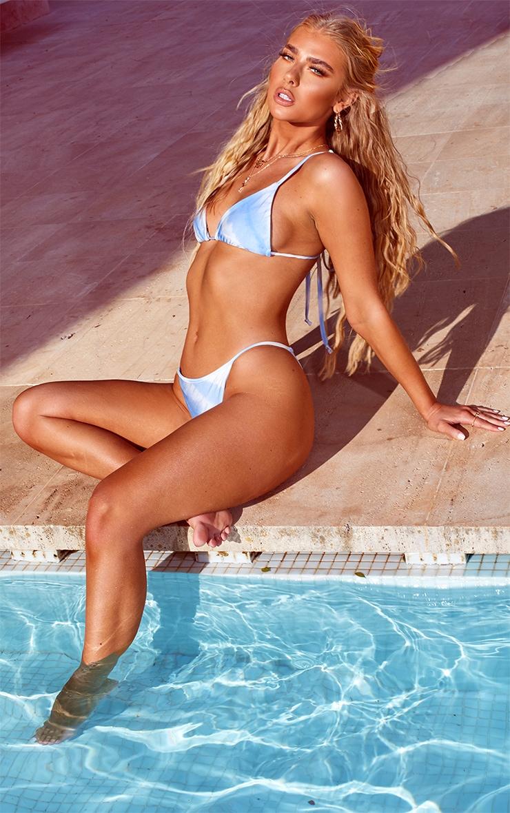 Blue Tie Dye Bikini Bottoms 1