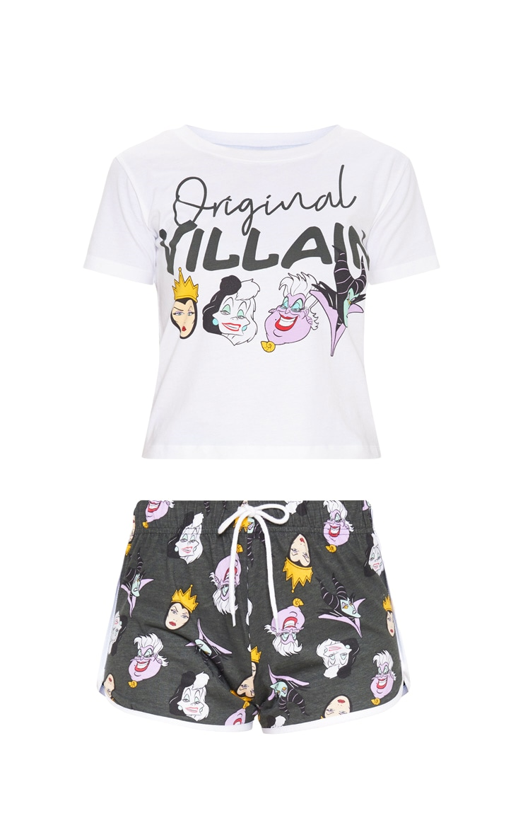 White DISNEY Original Witch Short PJ Set 3