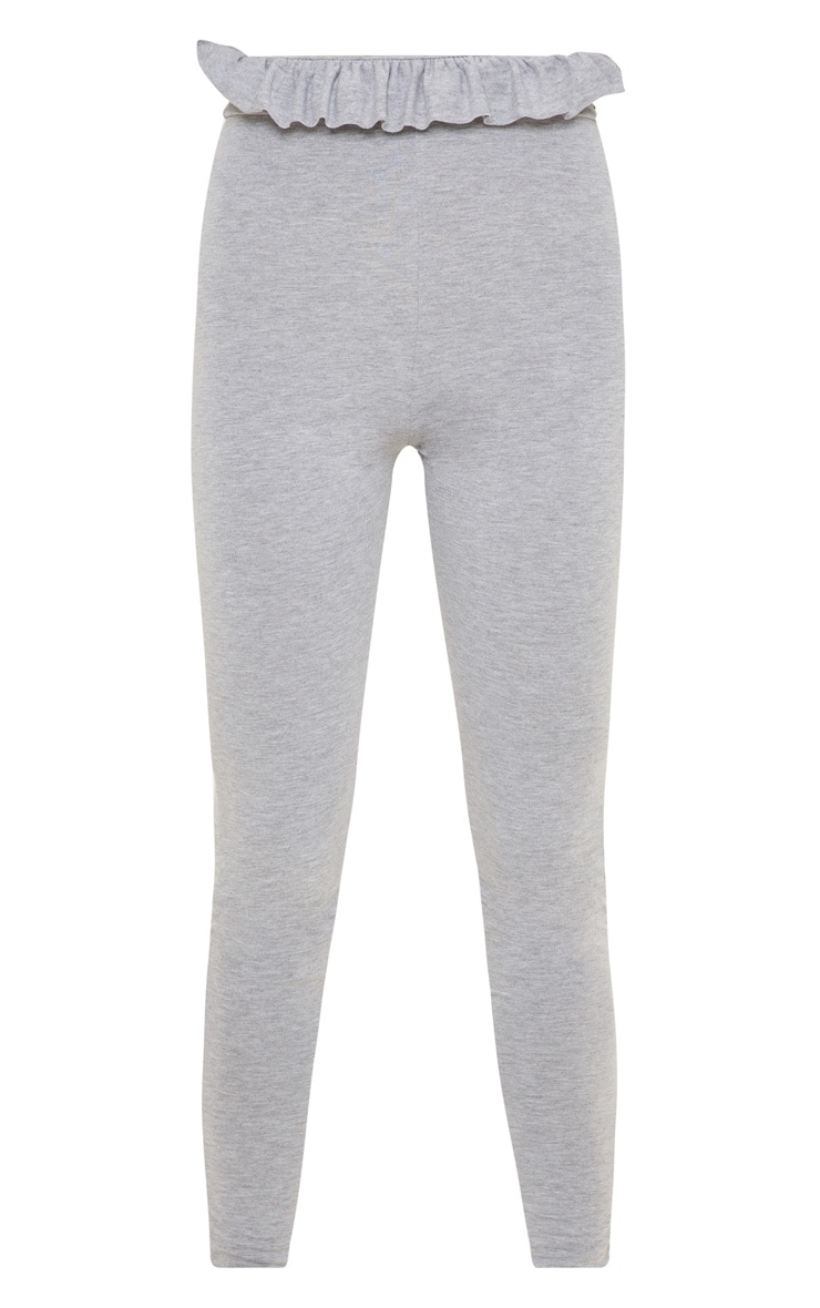 Grey Marl Paperbag Leggings 3