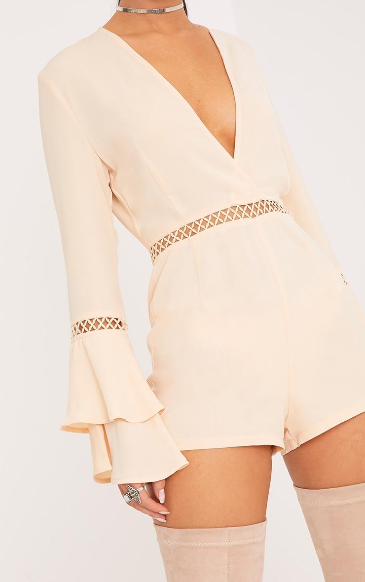 Marnie Cream Frill Sleeve Playsuit 5