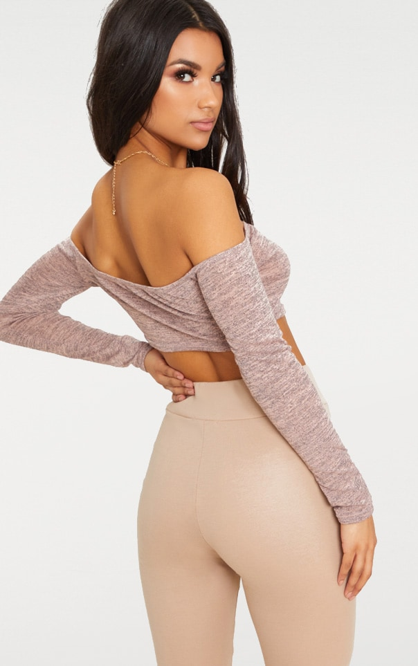 Pink Ruched Front Knit Top 2