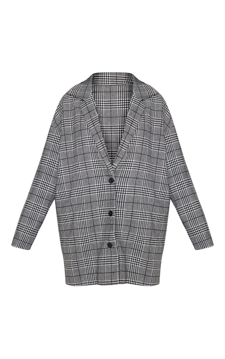 Veste en laine à carreaux noirs 3