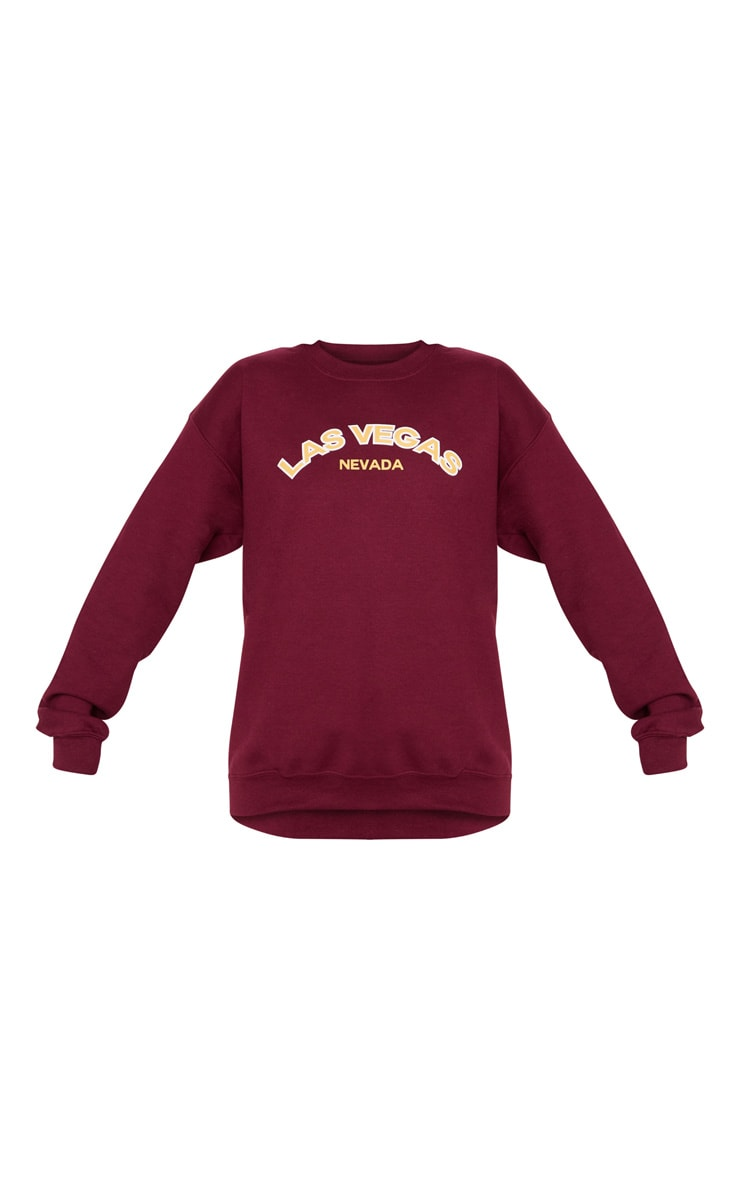 Raspberry Las Vegas Slogan Sweater 4