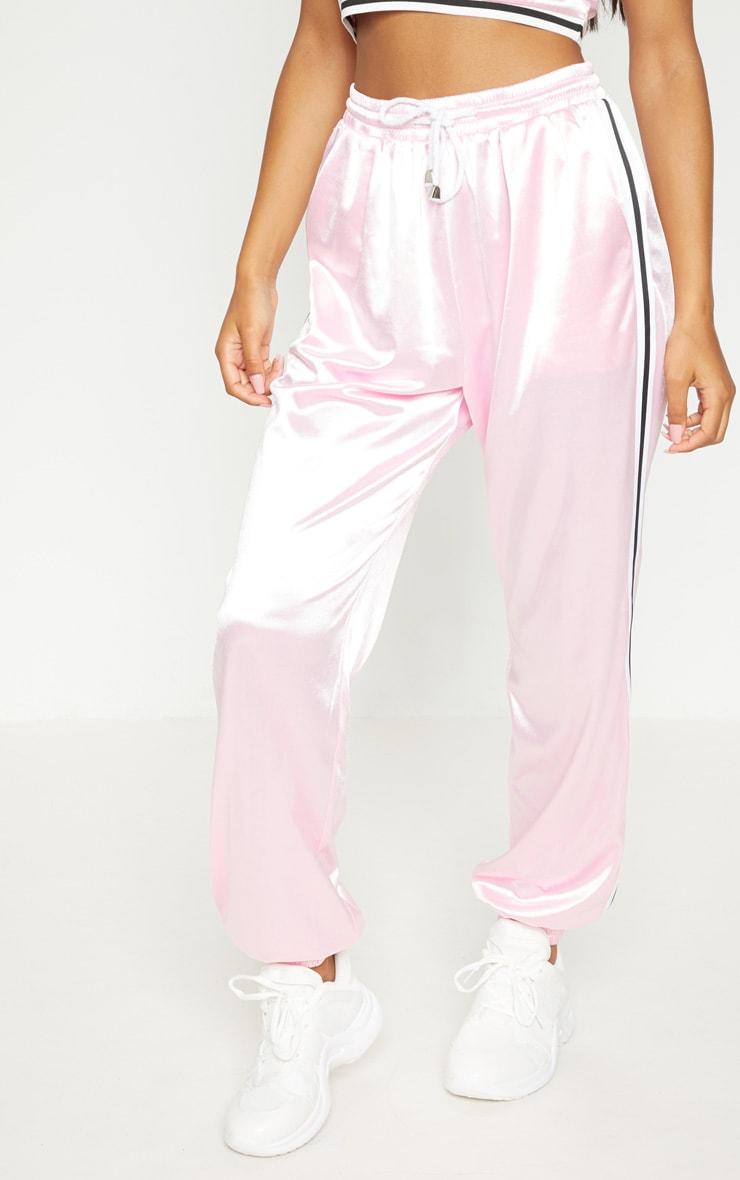 Pastel Pink Stripe Trim Joggers 3