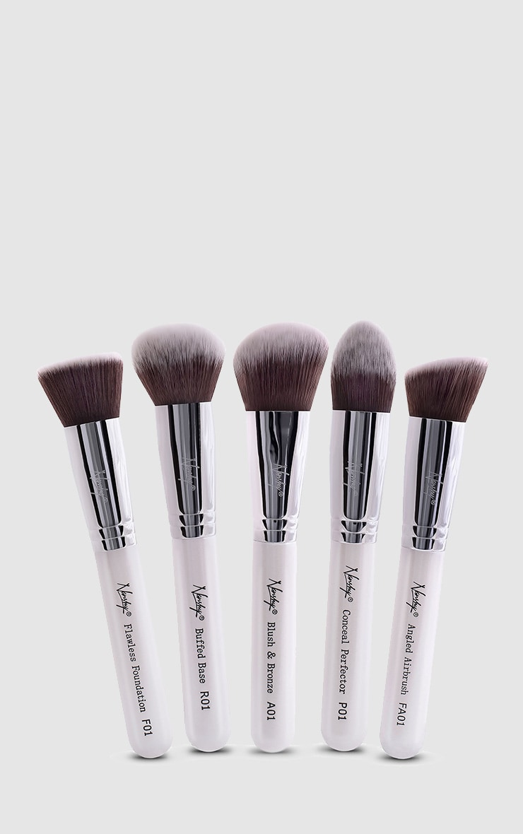 Nanshy Gobsmack Glamorous Pearlescent White Brush Set 1