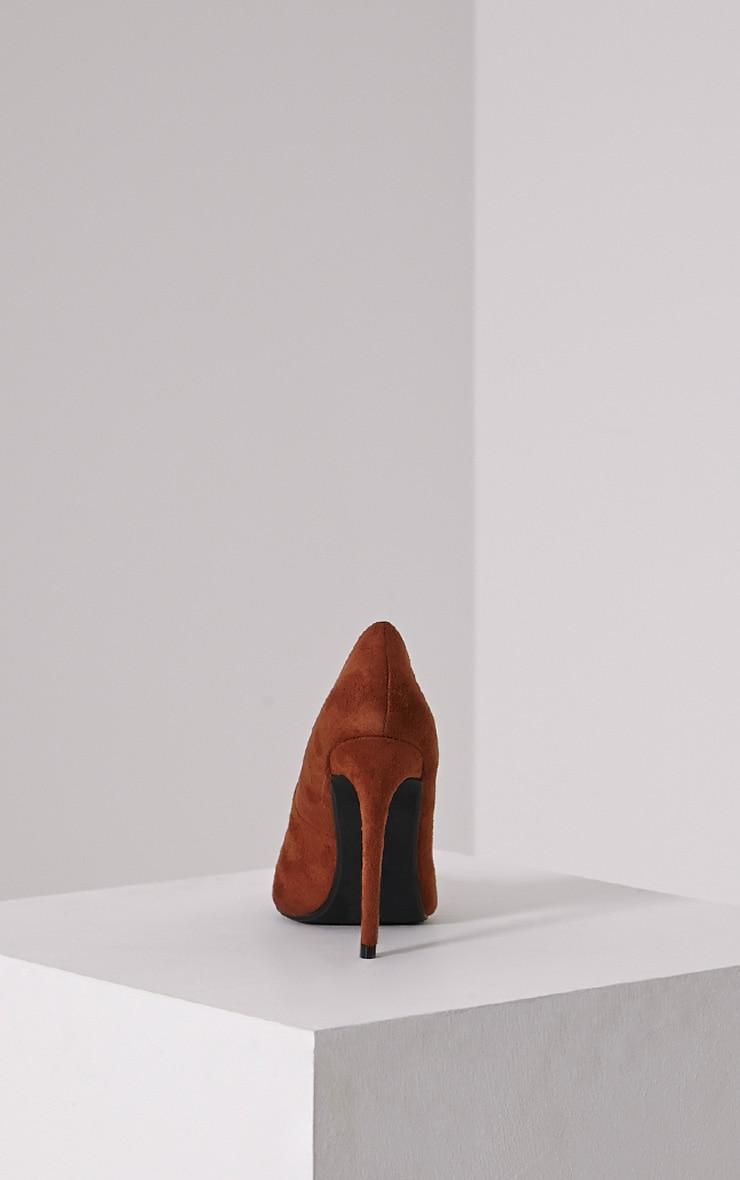 Tina Tan Faux Suede Court Shoes 5