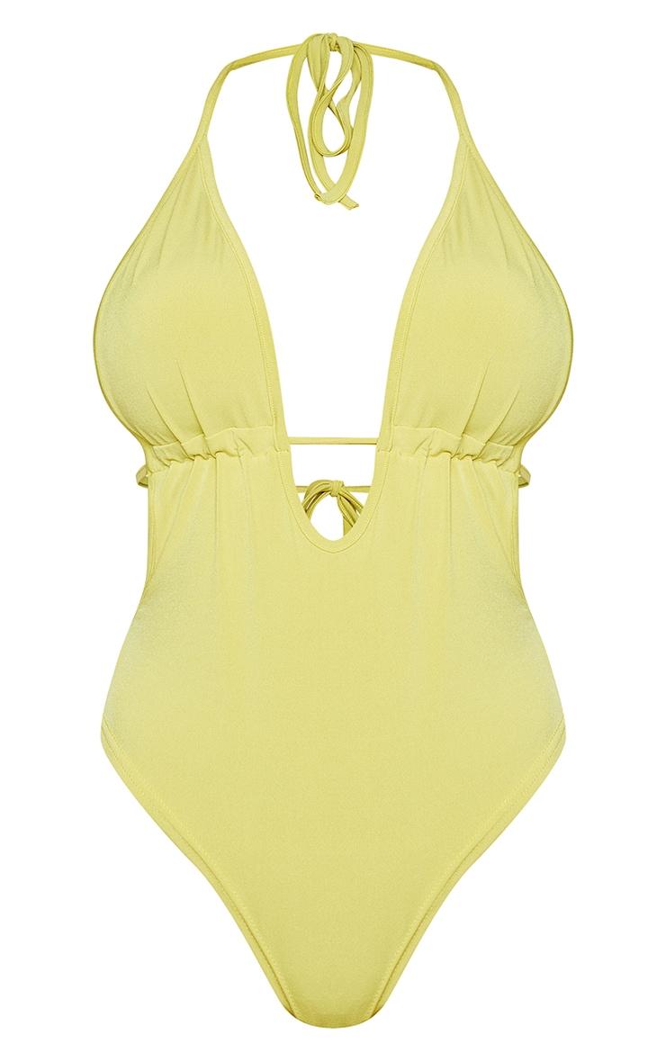 Shape Lime Slinky Cut Out Bodysuit 5
