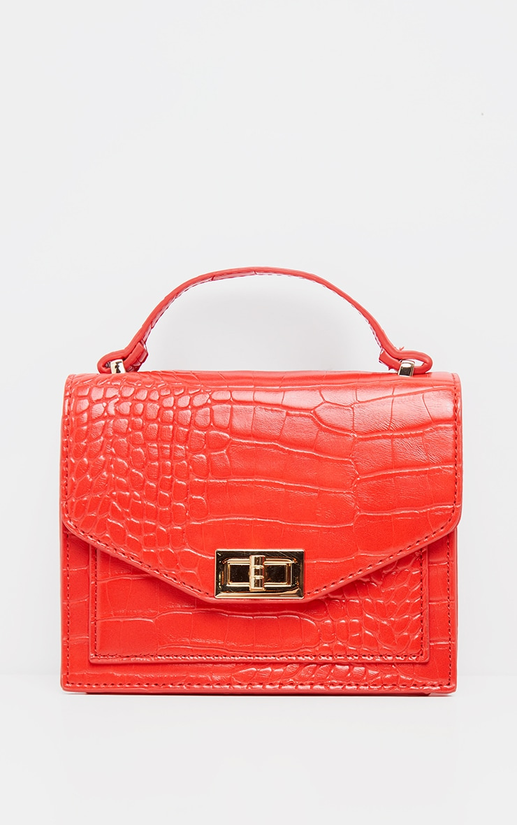 Red Croc Cross Body Bag 2