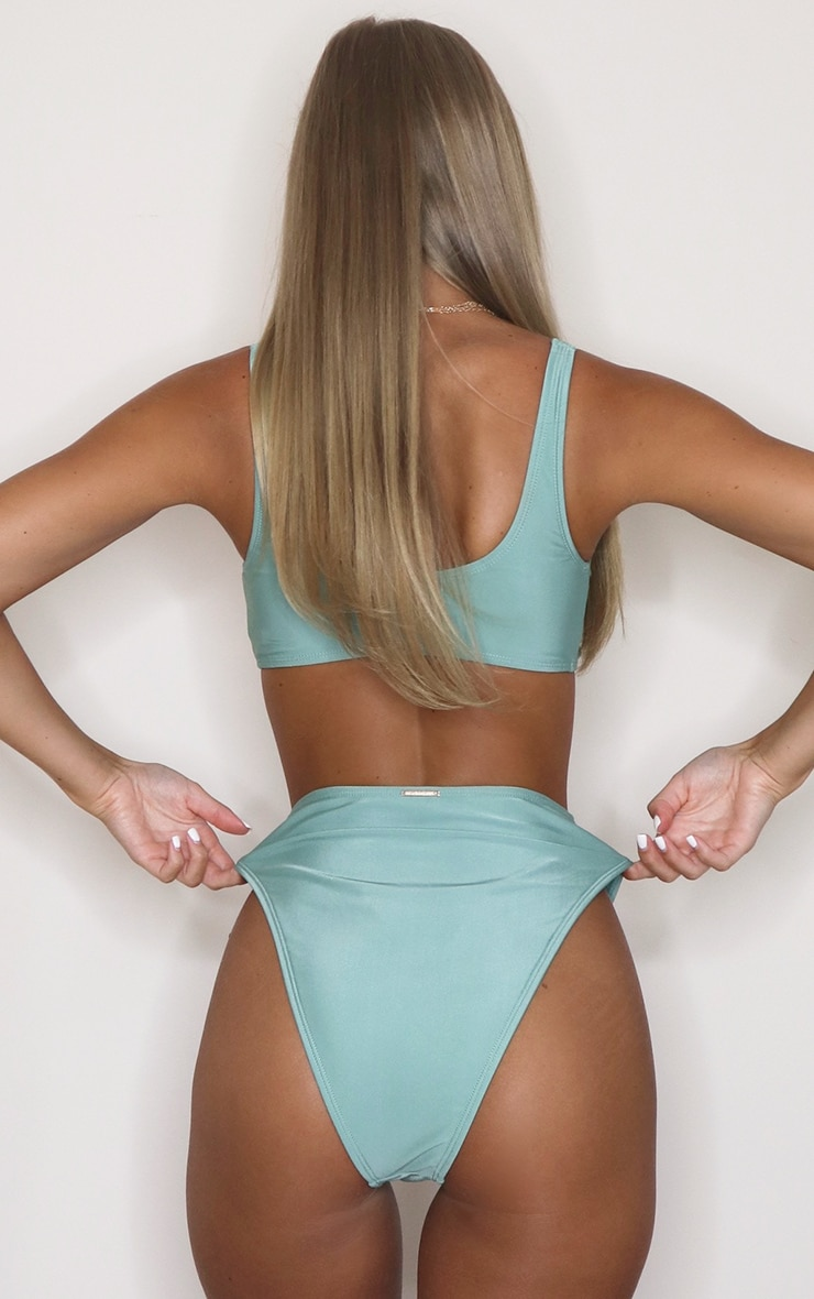 Jade Mix & Match High Waisted High Leg Bikini Bottoms 3