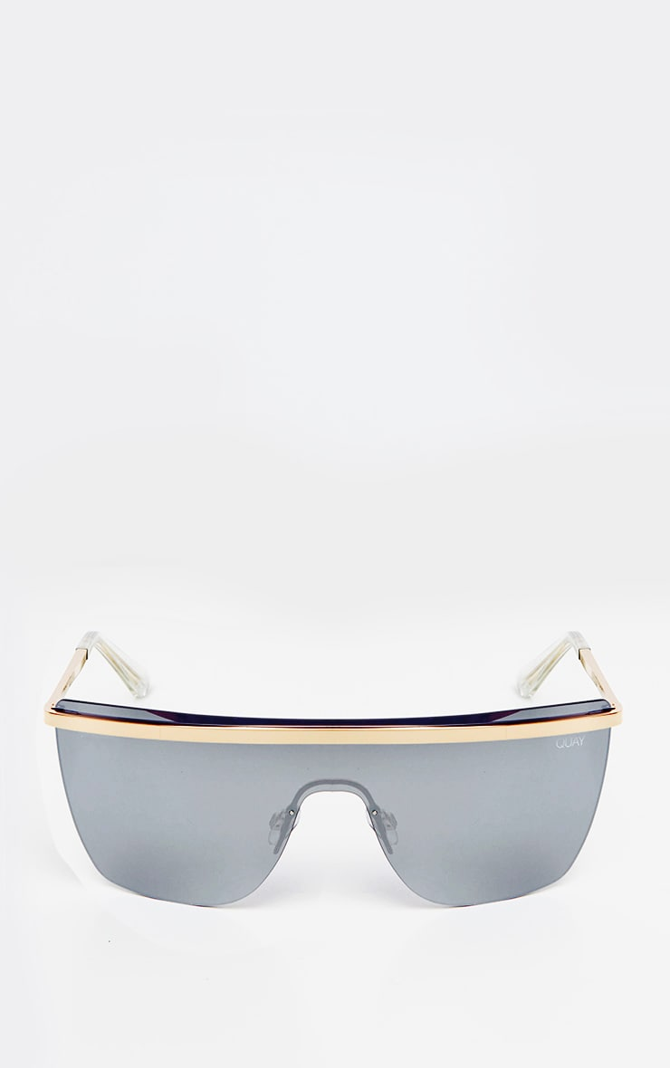 QUAY Gold And Silver Get Righ Sunglasses 2
