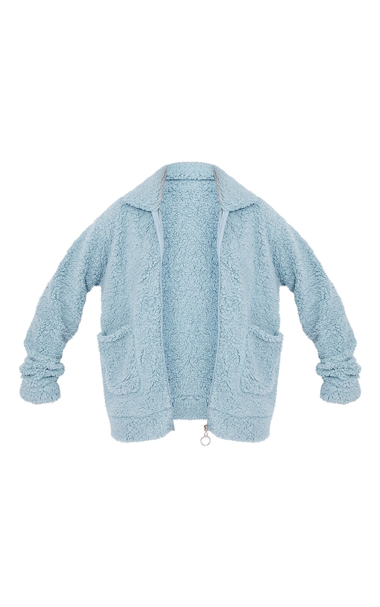 Mint Teddy Pocket Front Oversized Jacket 5