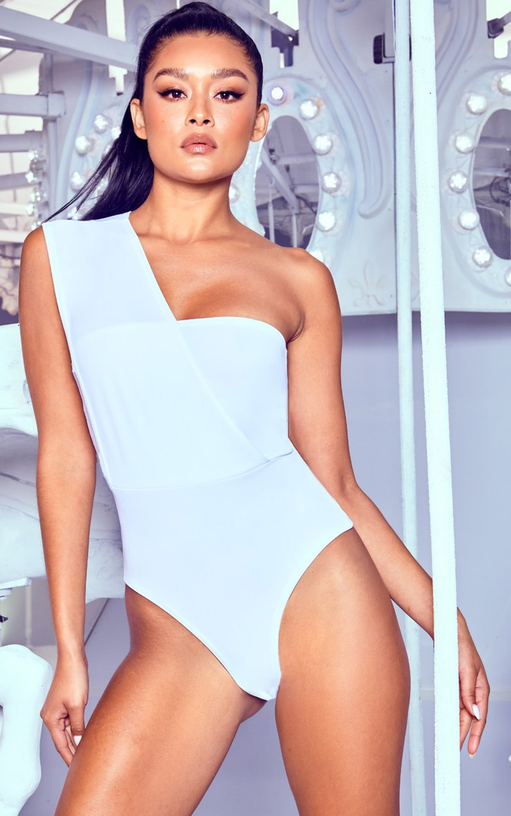 White One Shoulder Bodysuit