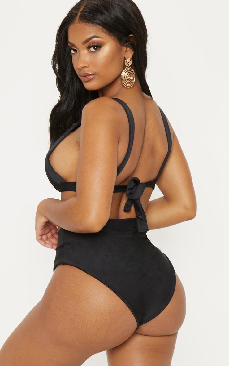Shape Black Knot Front Bikini Top 2