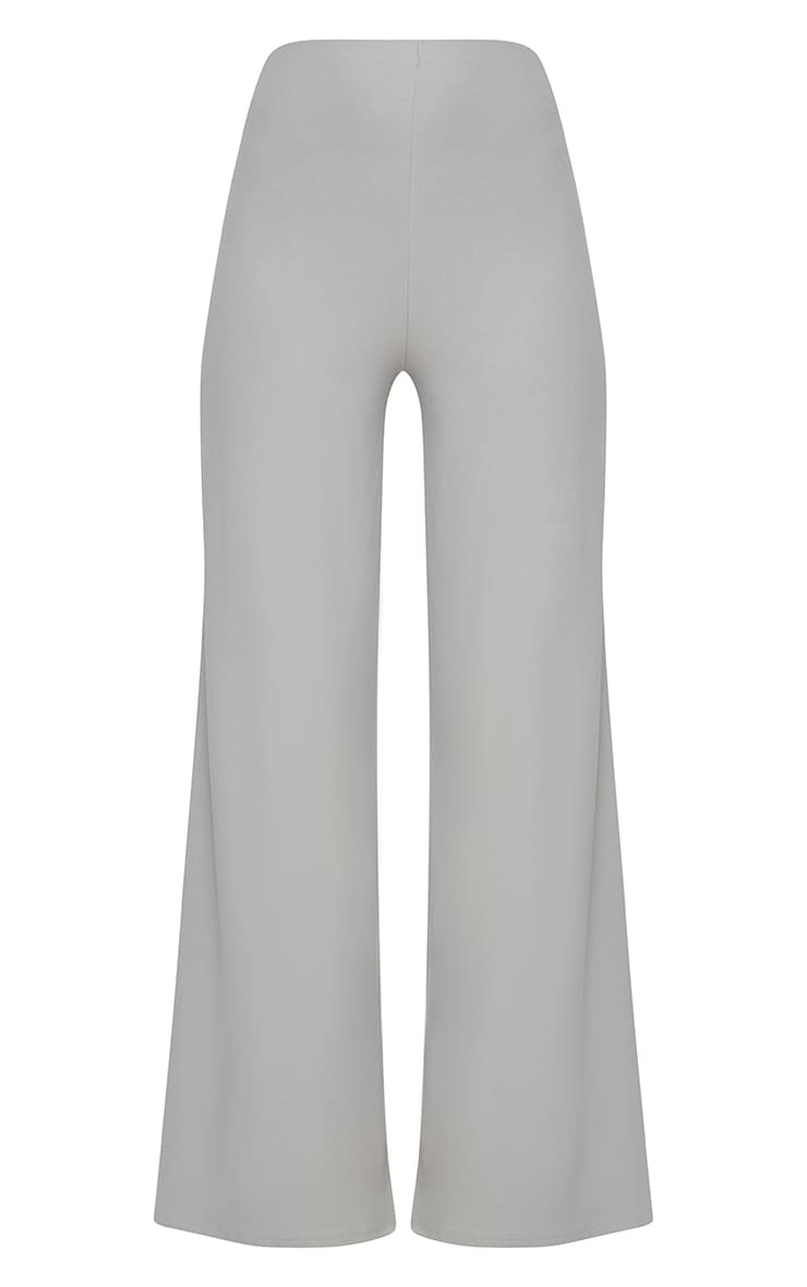 Grey High Waisted Wide Leg Trousers 3