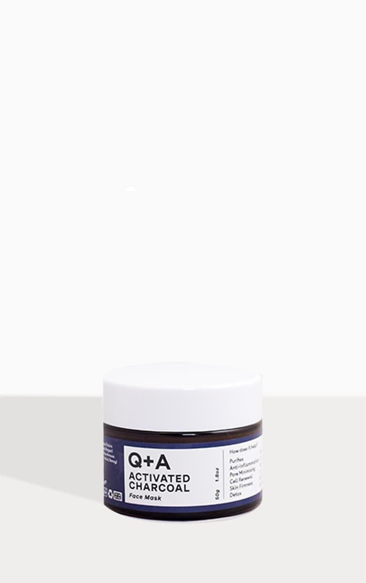 Q+A Activated Charcoal Face Mask 50g 3