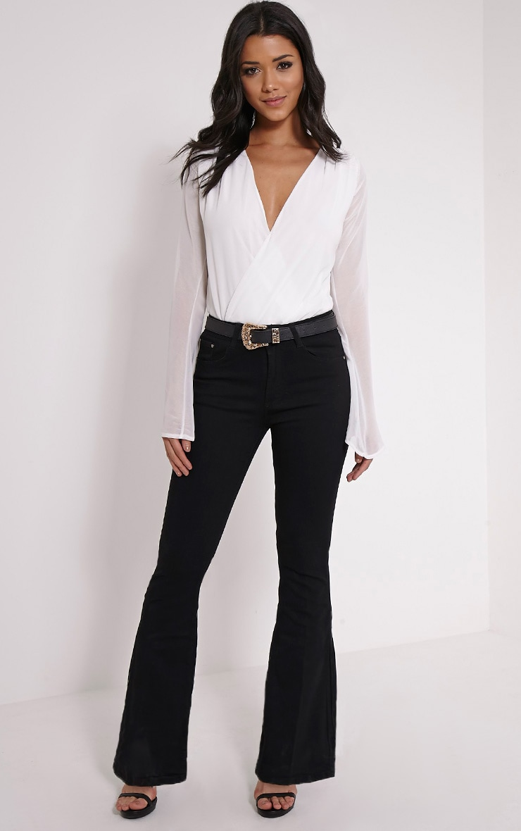 Waverly Black Flared Jean 1