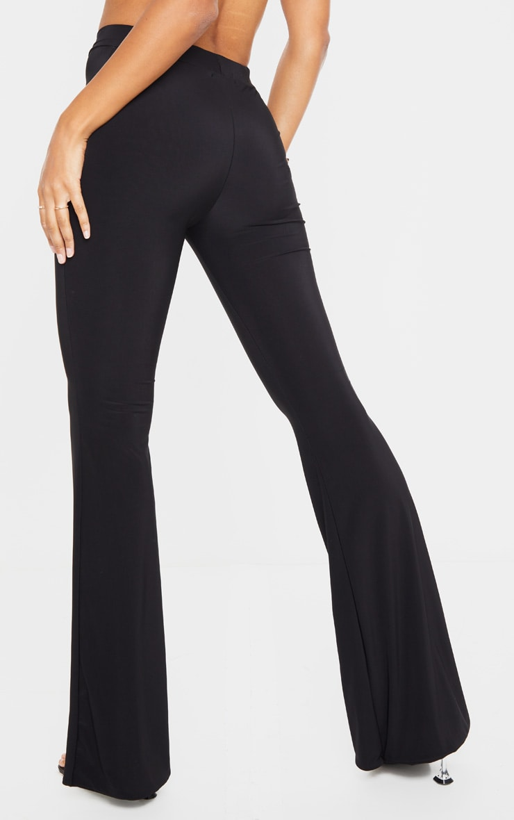 Black Slinky Flared Pants 3