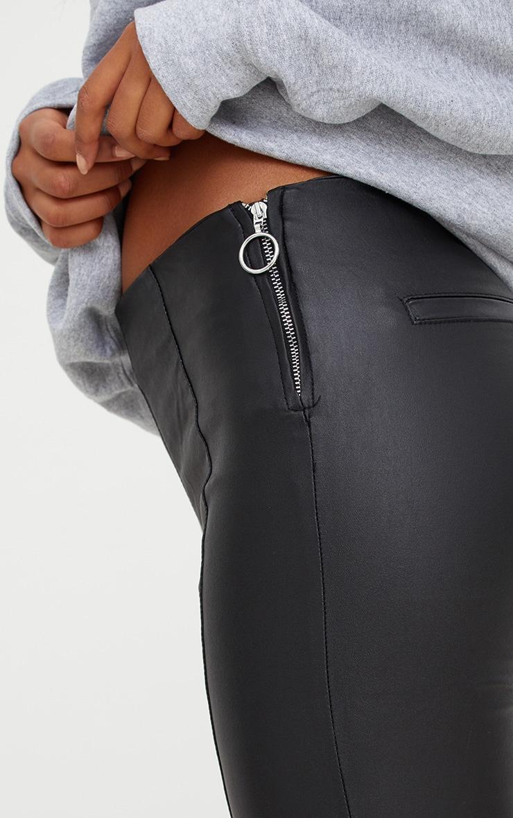 Black Coated Ring Pull Denim Skinny Jean 4