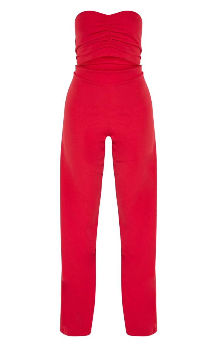 Tall Scarlet Cut Out Bandeau Jumpsuit 3