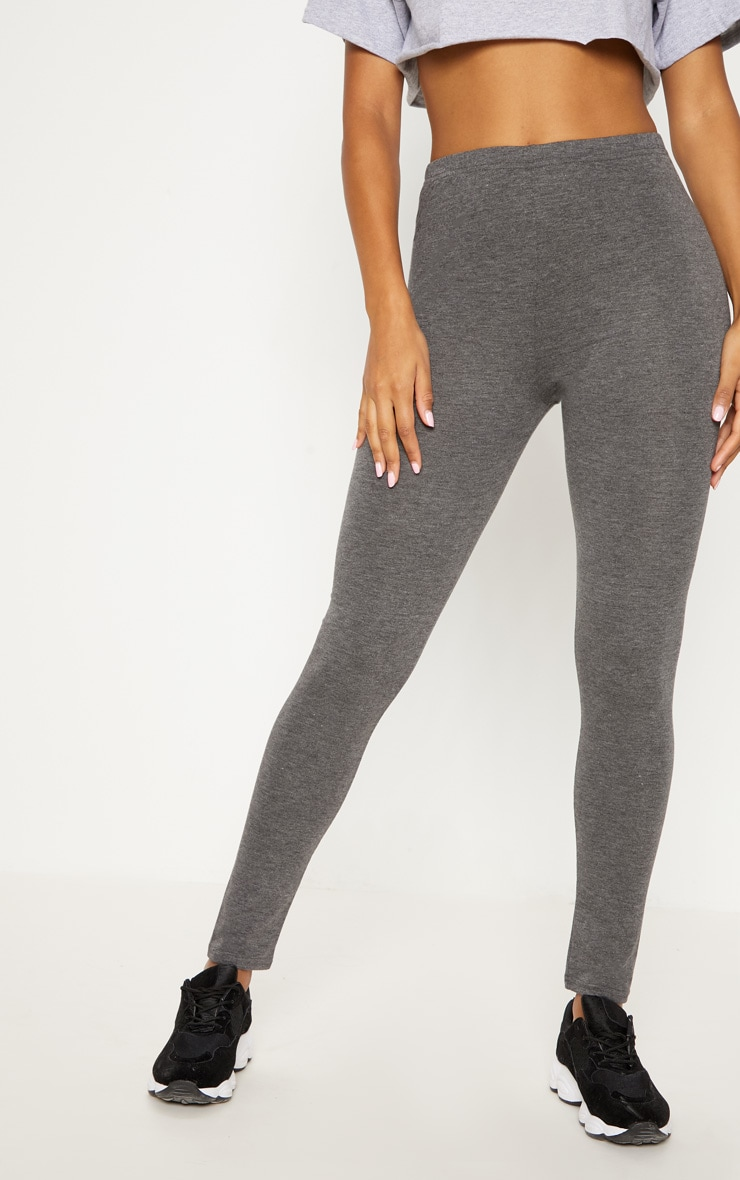 Charcoal Basic Jersey Legging   2