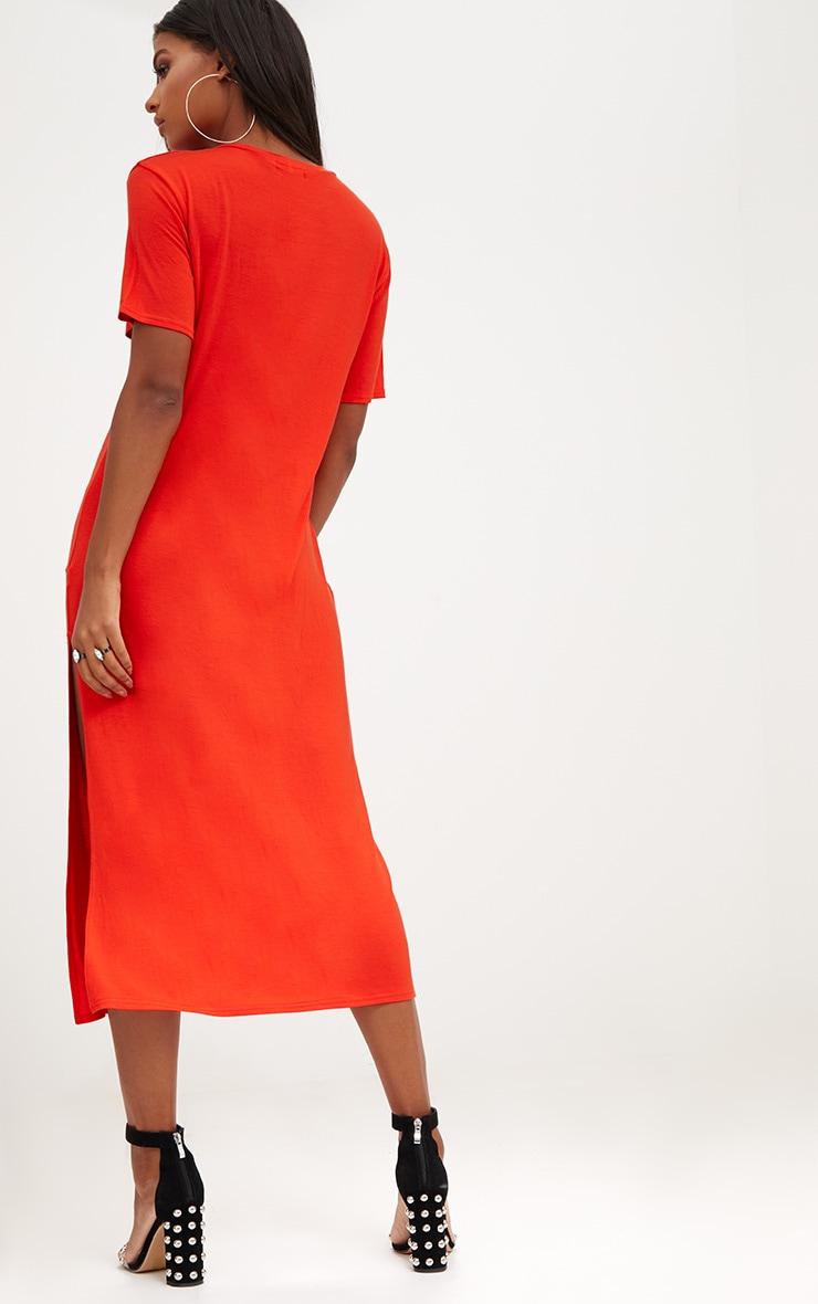 Orange After Party Midaxi T Shirt Dress 2