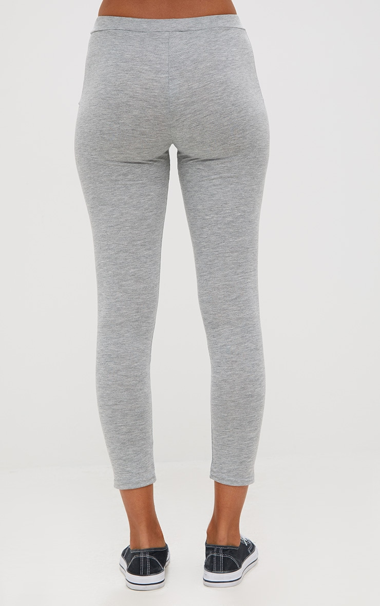 Grey Marl Ultimate Jersey High Waisted Leggings 3