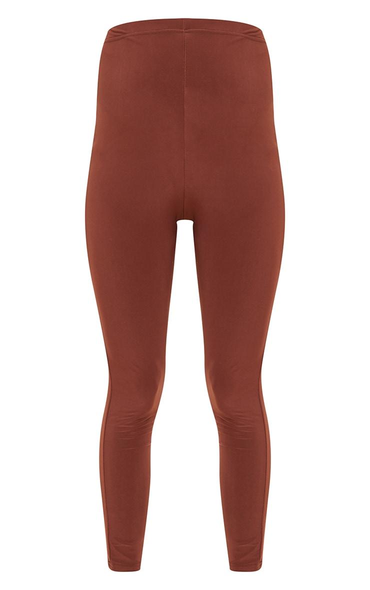 PLT Maternité - Legging taille haute marron chocolat slinky 5