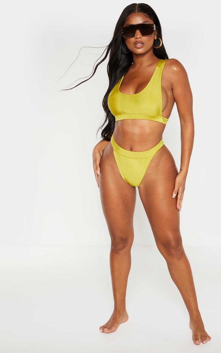 Shape Chartreuse Side Boob Bikini Top 4