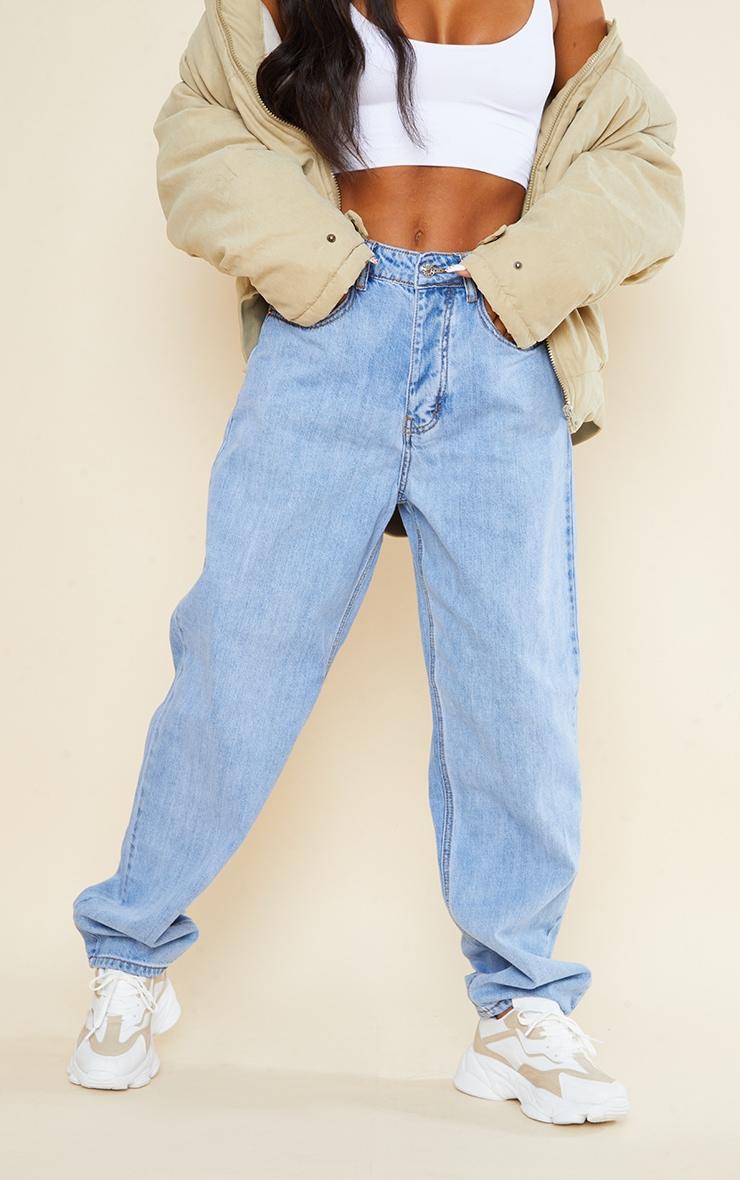 PRETTYLITTLETHING Light Wash Boyfriend Jeans 2