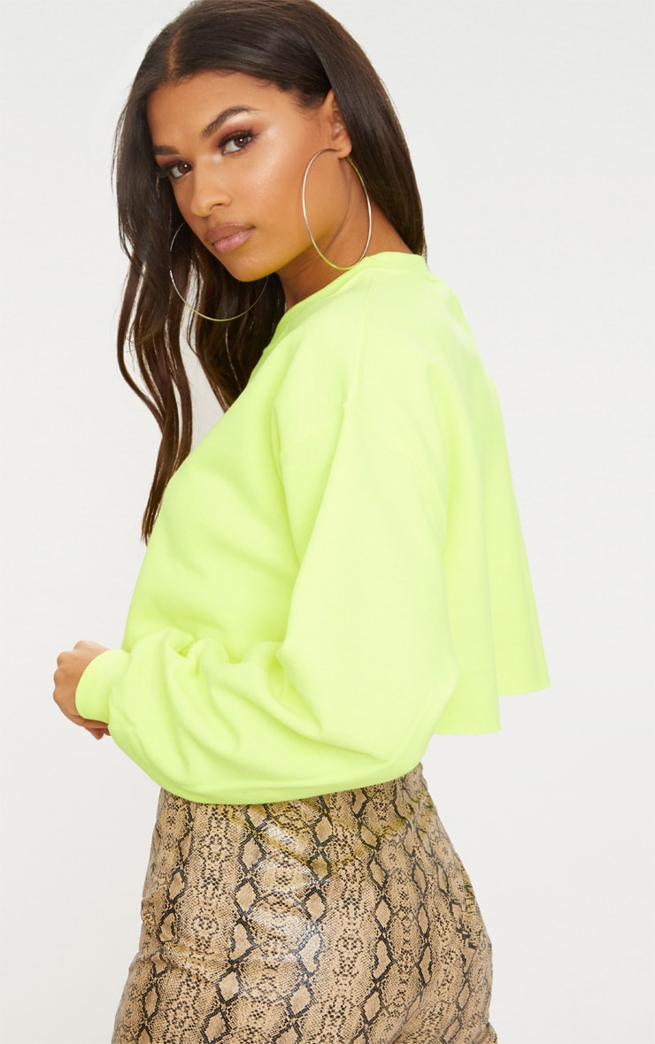 Lime Ultimate Cropped Sweater 2
