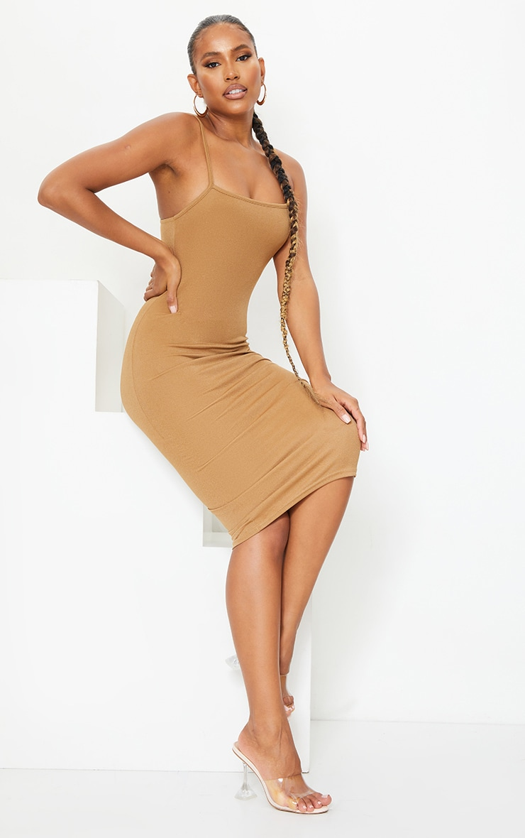 Chestnut Strappy Midi Dress 3