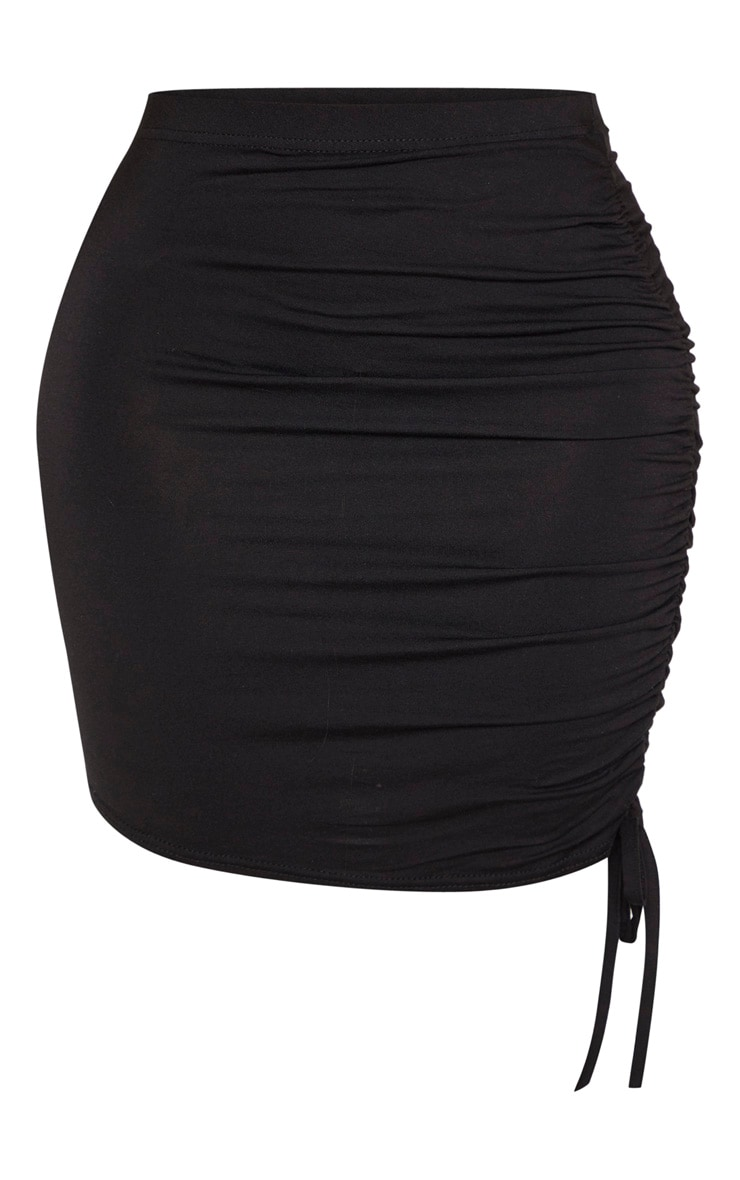 Shape Black Jersey Ruched Side Bodycon Skirt 3