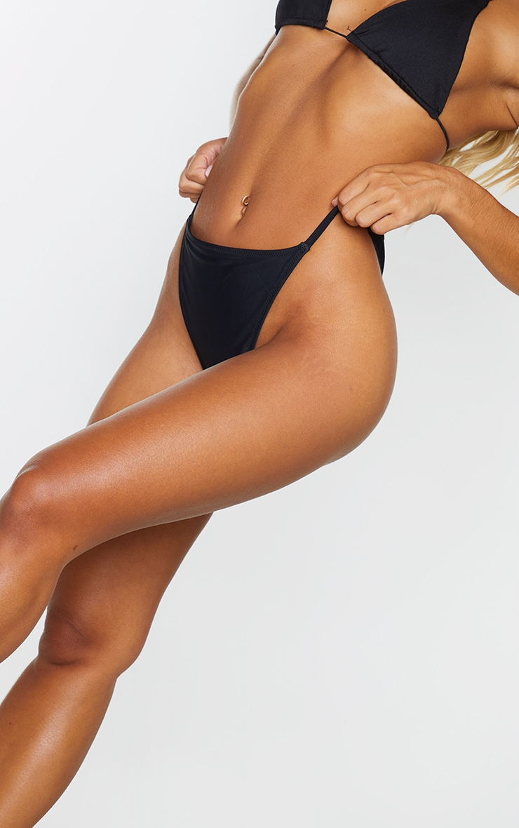 Black Tanga Side Bikini Bottom 5