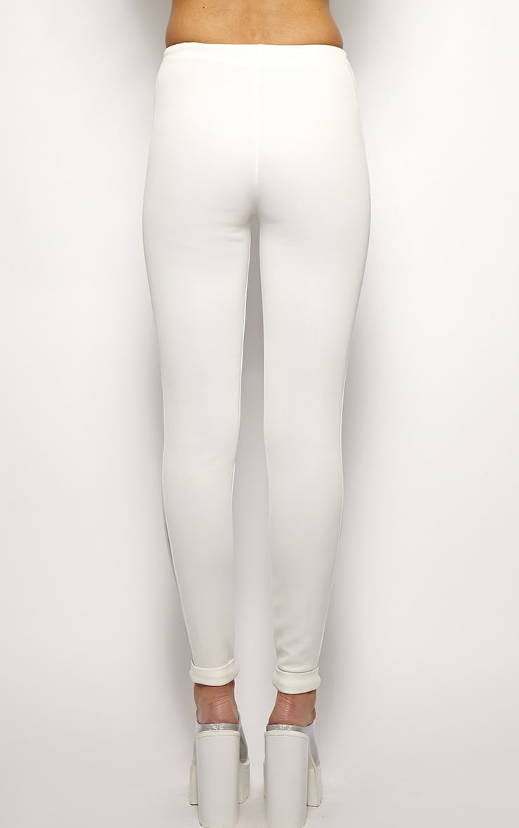 Yanoba White Premium Mesh Panel Legging  2
