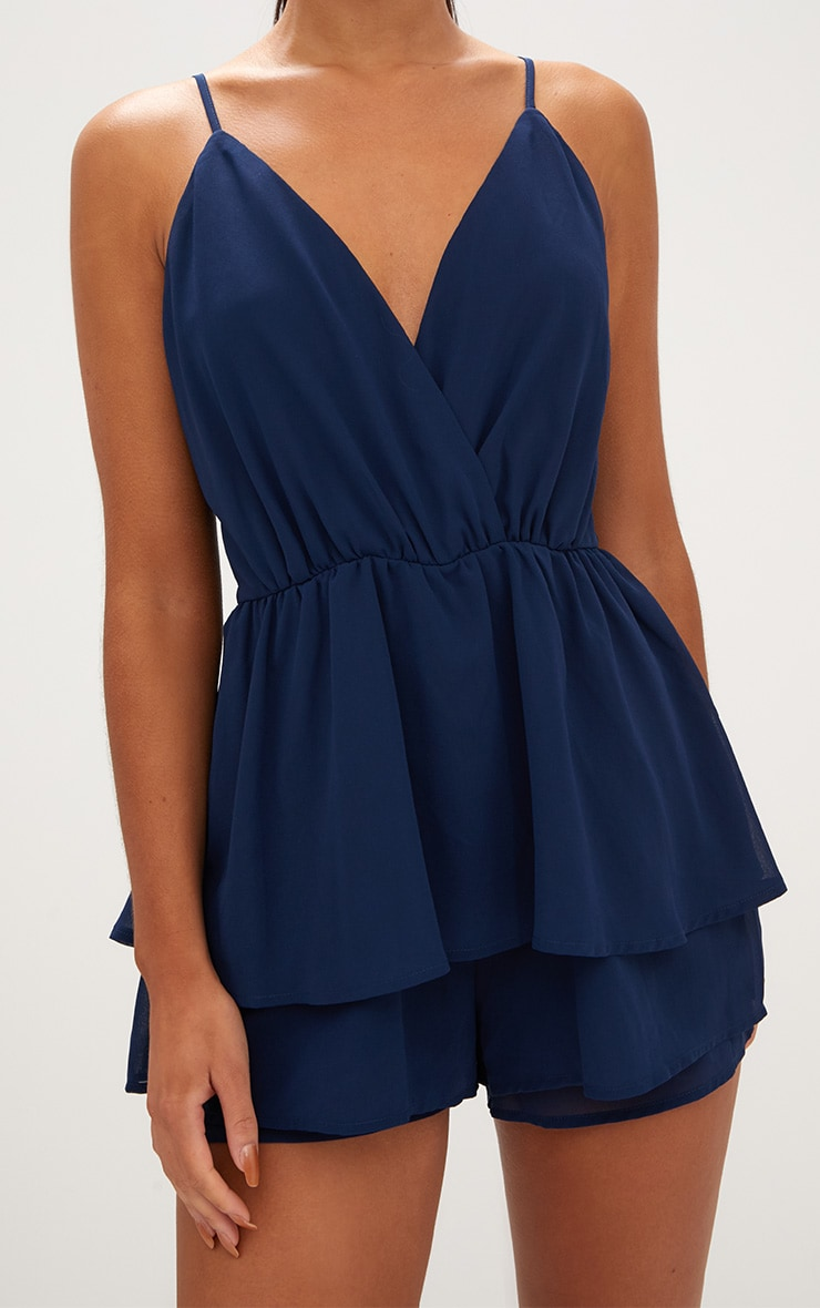 Navy Frill Layer Playsuit  5