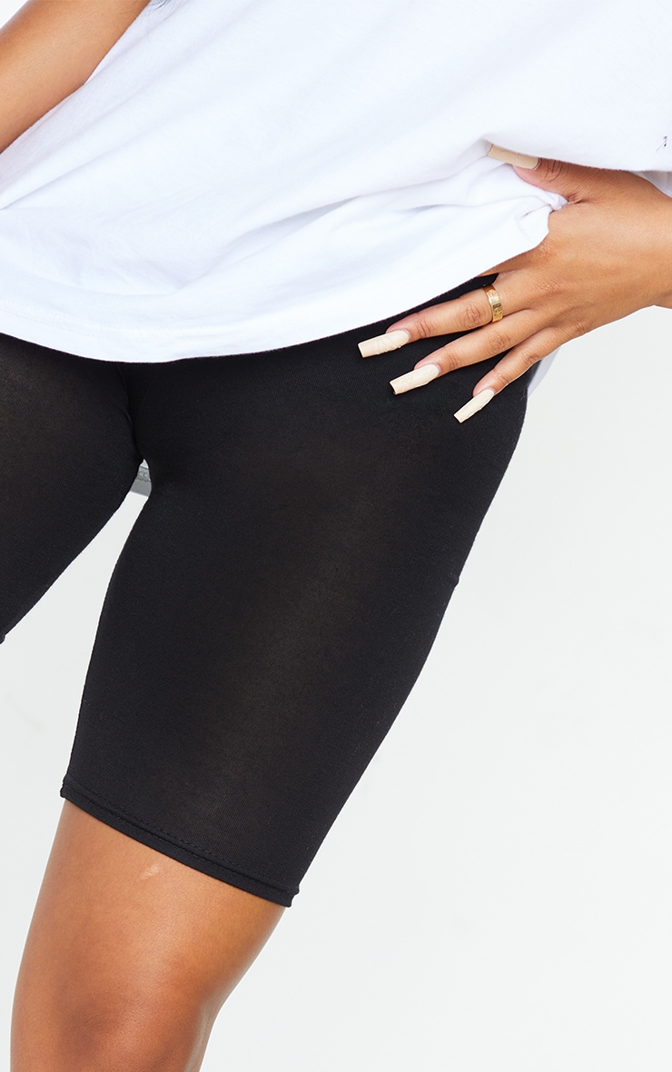 Petite Black Basic Bike Shorts 5