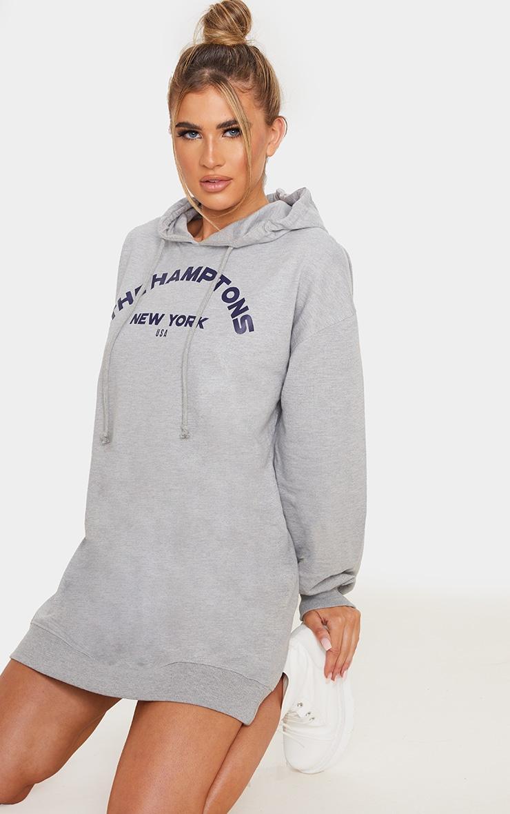 Grey The Hamptons Oversized Hoodie Dress 4