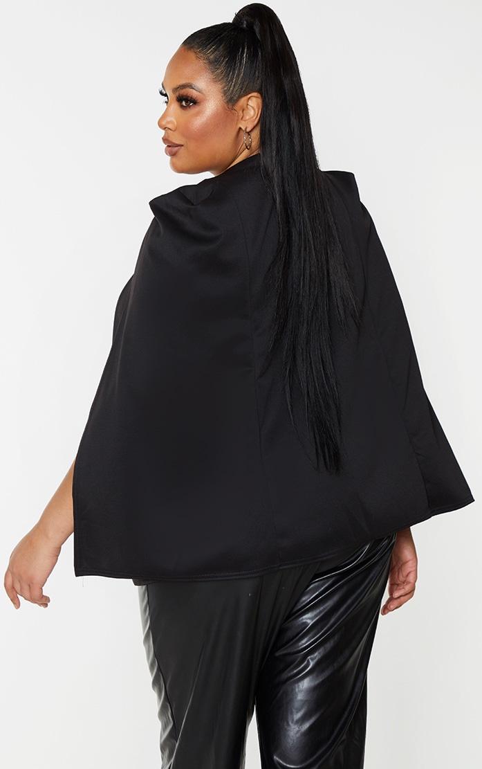 Plus Black Cape Blazer 2