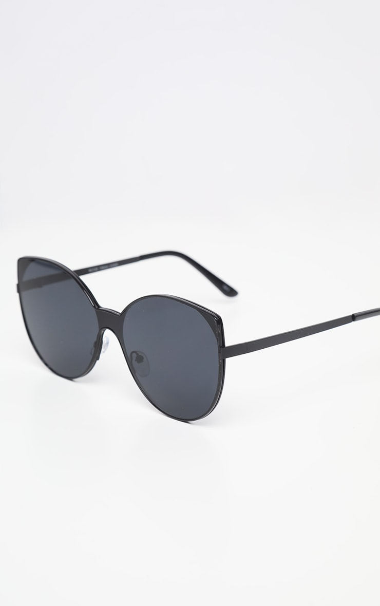 Black Round Pointed Sunglasses     3