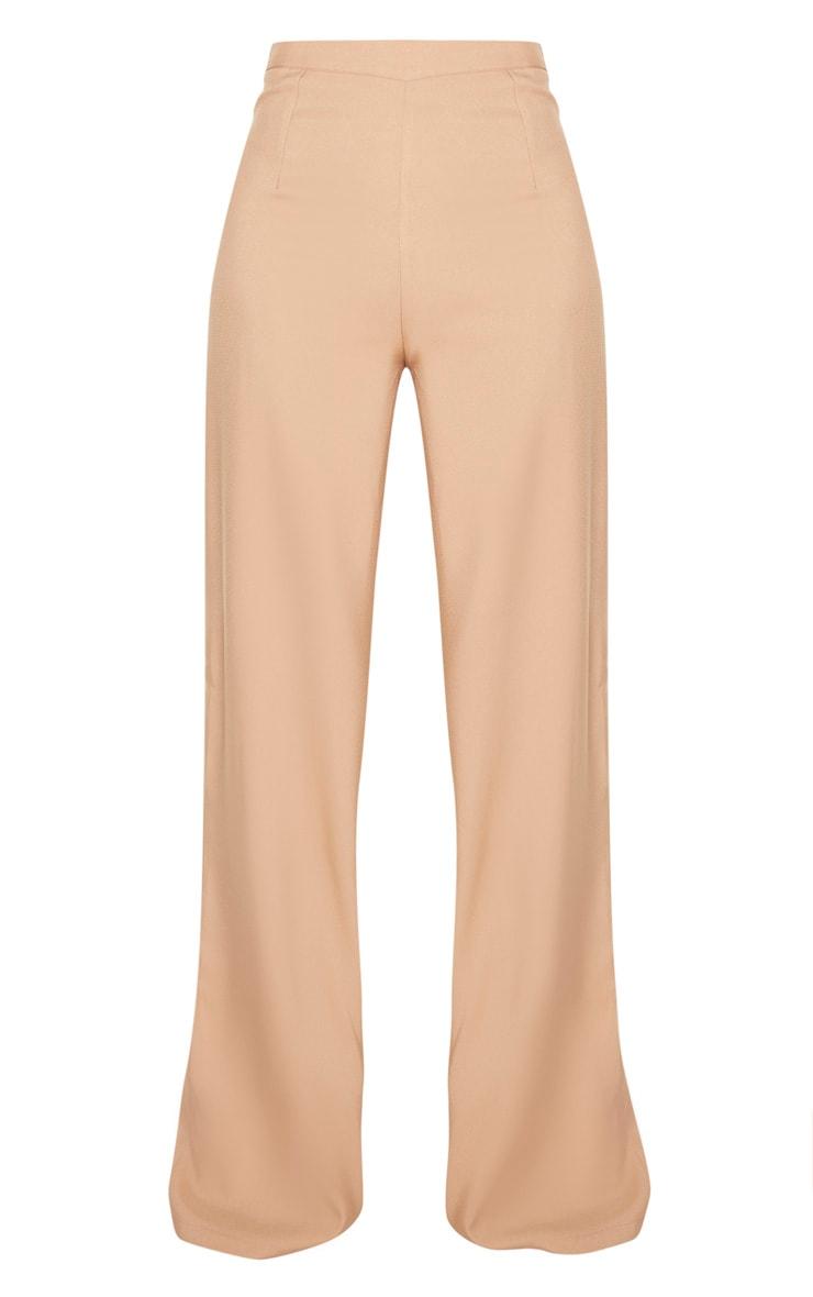 Tall Camel Woven Wide Leg Trouser  3