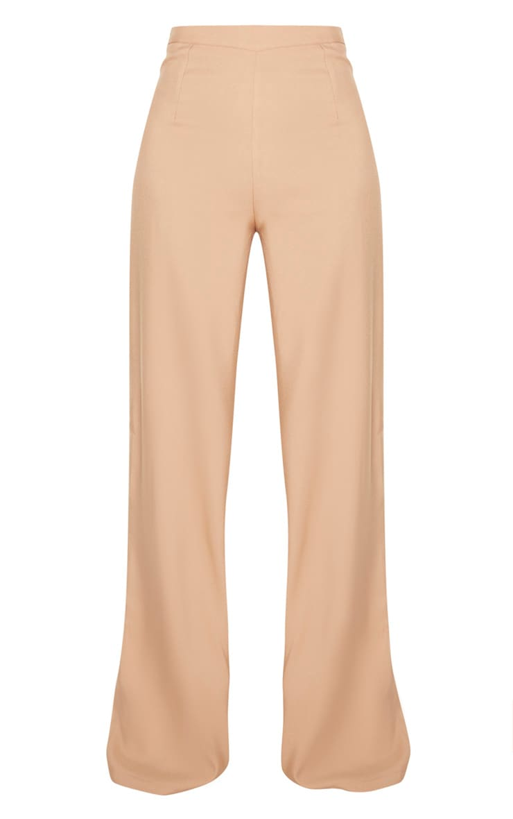 Tall - Pantalon en maille camel à jambes évasées 3