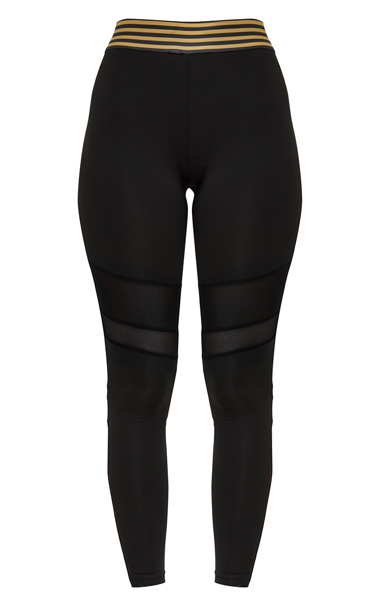 Black Stripe Leggings  4