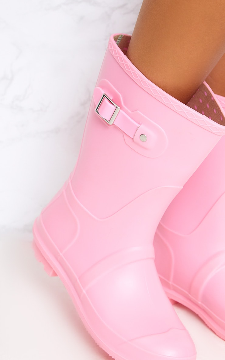 Baby Pink Short Wellies 5