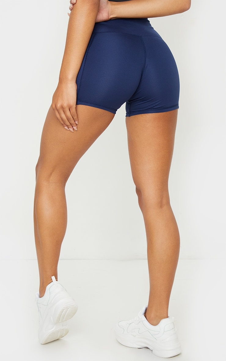 Navy Side Pocket Booty Shorts 3