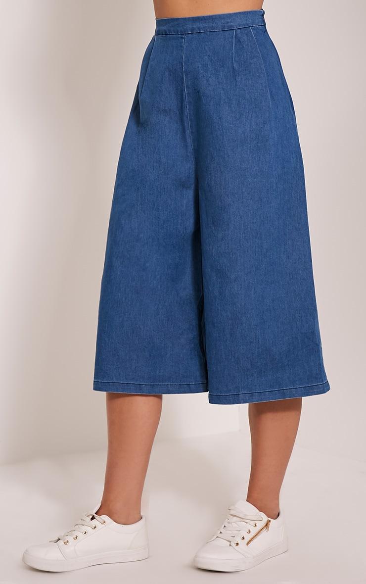 Mary Blue Denim Culottes 4